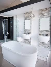 beautiful modern bathroom freestanding bath blackandwhite freestanding bath blackandwhite shower