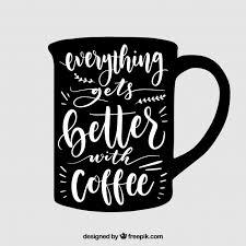design coffee mug coffee mug design with lettering vector free download