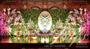 Pakistani Wedding Decoration Tulips Event Best Wedding Planner Walima Stage Flowering