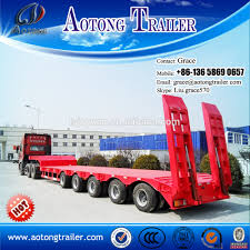 semi truck manufacturers 100 tons lowboy lowbed semi trailer for sale dolly tow low bed