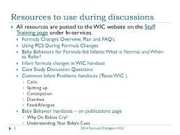Similac Total Comfort For Constipation Being U201csensitive U201d To Formula Changes In Wic Staff Discussion Guide