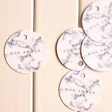 wedding gift labels marble design 95pcs shape paper labels packaging decoration