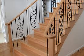 Wood Handrail Kits Architecture Wooden Handrails For Stairs In Cream Plus Curves