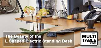 l shaped standing desk the beauty of the l shaped electric standing desk multitable