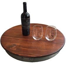 Umbrella Lazy Susan Turntable by Accessories Wine Barrel Lazy Susan With Rustic Touch Design