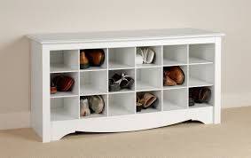 ottoman simple bedroom shoe storage cabinet cool white wooden