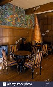 interior of ahwahnee hotel with copper fireplace built in 1925