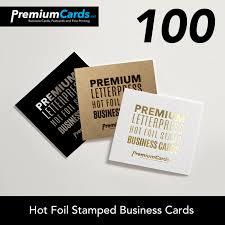Stamped Business Card 100 Premium Foil Stamped Business Cards Premium Business