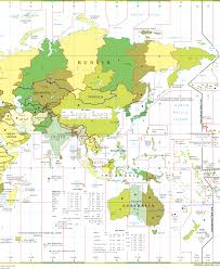 Blank Time Zone Map by Time Zones Map