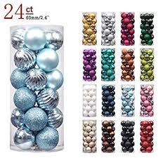 28 count glitter sequin ornaments set