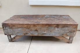 antique wood end tables antique plank farmhouse coffee table bench omero home