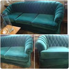 Teal Tufted Sofa by Looove Beautiful Green Vintage Velvet Tufted Sofa Couch