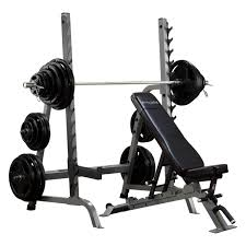 weight and bench set sdib370 body solid bench rack combo body solid fitness