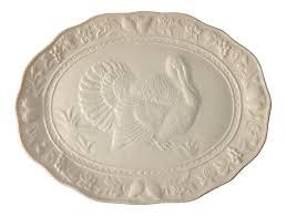 ceramic turkey platter portuguese turkey platter chairish