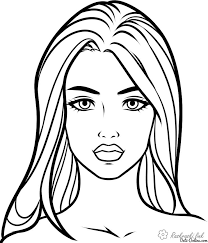 beautiful woman face coloring pages grown ups beautiful woman
