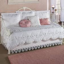 bed u0026 bedding simply white daybed comforter sets with pink pillow