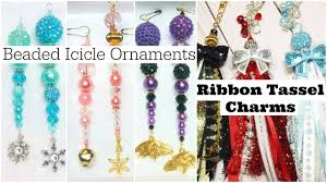 beaded icicle ornaments ribbon tassel charms
