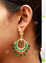earring ear ear with earring stock photography image 12725002