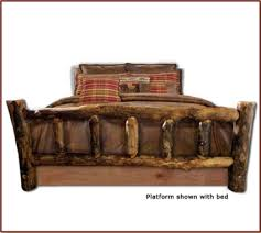 brand new majestic rustic furniture aspen log bed