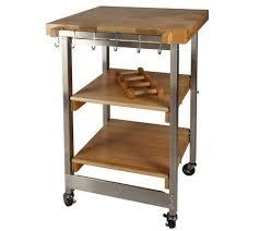 folding island kitchen cart folding island kitchen cart w butcher block style top s s
