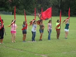Color Guard Flags The Lanier County High Color Guard Stands Ready At