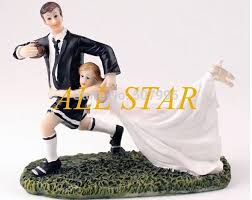 football wedding cake toppers football figurine wedding cake topper wedding