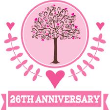 26th wedding anniversary 12th anniversary