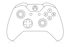 Xbox 360 Coloring Pages xbox controller coloring page printable editable blank