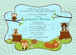 woodland forest animals custom digital baby shower or birthday