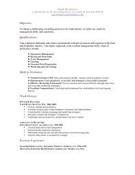 resume exles for restaurant resume