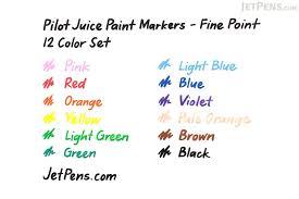 pilot juice paint marker fine point 12 color set jetpens com