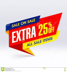 sale on sale paper banner 25 stock photo image 75857151