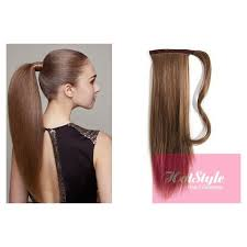 human hair extensions clip in human hair ponytail wrap hair extension 20