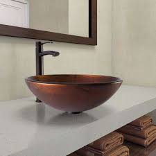 round vessel sinks bathroom sinks the home depot
