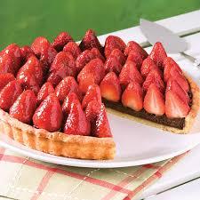 cuisine aux fraises tarte chocolat et fraises recettes cuisine et nutrition