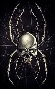 how to draw a spider skull by skulls pop