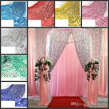 shiny 9mm sequins fabric for wedding table cloth decoration