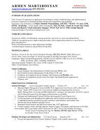Dba Administrator Resume Resume Database Developer Sql 100 Images Resume Sql Server