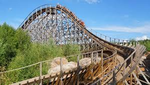 El Toro Roller Coaster Six Flags Freizeitpark Plohn Feiert Welt Achterbahn Tag 2016 Mit Blick