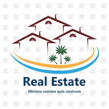 set outlines of houses and apartments for real estate vector image