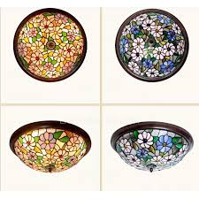 Stained Glass Ceiling Light Stained Glass Shade Led Ceiling Lighting