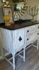 another view of the vintage buffet makeover upcycled and