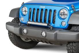 jeep light bar grill jeep bumper light mounts quadratec