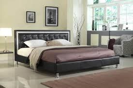 Tufted Platform Bed Sofia Black Leather Tufted Platform Bed Frame Kassa Mall Home