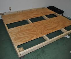 Simple King Platform Bed Frame Plans by Diy Bed Frame For Less Than 30 6 Steps