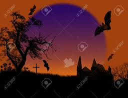 really scary halloween background scary halloween background with ghosts and bats on scarry place