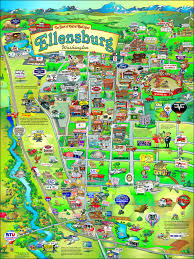 Washington State County Map by Ellensburg Washington Fun Map Cities Ellensburg Wa And