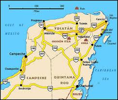 map of mexico yucatan region yucatan peninsula