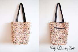 pattern for tote bag with zipper pretty quirky pants diy tote bag with zipper pocket instructions