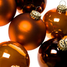 Brown Christmas Tree Decorations Uk by Krebs Tub Of 6 X 8cm Brown And Orange Glass Christmas Tree Baubles
